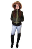 Muchacha con la chaqueta del invierno. Imagen de archivo libre de regalías