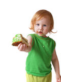 Muchacha con la empanada Foto de archivo libre de regalías