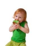 Muchacha con la empanada Fotografía de archivo libre de regalías