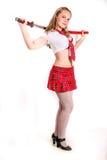 Muchacha con la espada Fotos de archivo libres de regalías