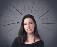 Muchacha con la expresión facial divertida Fotos de archivo libres de regalías