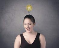 Muchacha con la expresión facial divertida Imágenes de archivo libres de regalías