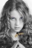 Muchacha con la flor Fotografía de archivo