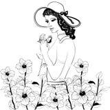 Muchacha con la flor Imágenes de archivo libres de regalías