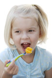 Muchacha con la fork fotos de archivo libres de regalías