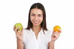 Muchacha con la fruta Imagen de archivo