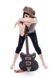 Muchacha con la guitarra Imagenes de archivo