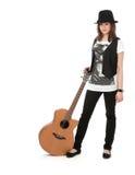 Muchacha con la guitarra Imagen de archivo