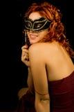 Muchacha con la máscara fotos de archivo