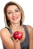 Muchacha con la manzana Fotografía de archivo