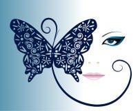 Muchacha con la mariposa stock de ilustración