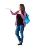 Muchacha con la mochila Imagenes de archivo