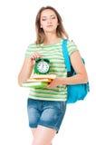 Muchacha con la mochila Foto de archivo