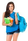 Muchacha con la mochila Imagen de archivo libre de regalías