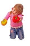 Muchacha con la paprika Imagen de archivo libre de regalías