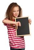 Muchacha con la pizarra Imagen de archivo libre de regalías