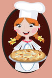 Muchacha con la pizza Fotos de archivo libres de regalías