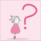 Muchacha con la pregunta Fotos de archivo