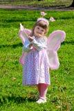 Muchacha con las alas Imagenes de archivo