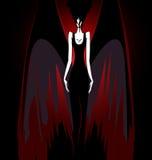 Muchacha con las alas oscuras Fotografía de archivo libre de regalías