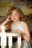 muchacha con las cerraduras rubias Imagenes de archivo