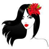 Muchacha con las flores hermosas Imágenes de archivo libres de regalías