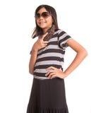 Muchacha con las gafas de sol y el monedero IV Fotos de archivo libres de regalías