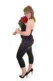 Muchacha con las rosas. Imágenes de archivo libres de regalías