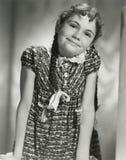 Muchacha con las trenzas Imagen de archivo libre de regalías