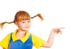 Muchacha con las trenzas divertidas Imagen de archivo