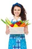 Muchacha con las verduras Imagen de archivo