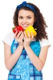 Muchacha con las verduras Imagen de archivo libre de regalías