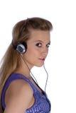 Muchacha con los auriculares foto de archivo libre de regalías