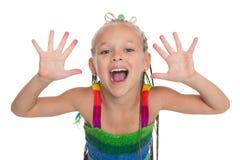 Muchacha con los brazos expuestos adelante Imagen de archivo libre de regalías