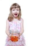 Muchacha con los caramelos Foto de archivo