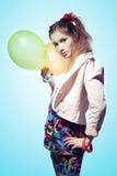 Muchacha con los globos Foto de archivo