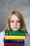 Muchacha con los libros Foto de archivo