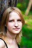 Muchacha con los ojos azules foto de archivo libre de regalías
