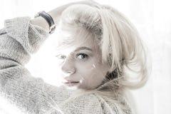 Muchacha con los ojos azules Foto de archivo