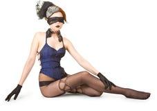 Muchacha con los ojos vendados Foto de archivo libre de regalías