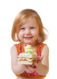 Muchacha con los pasteles Imagen de archivo