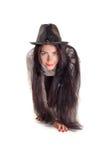 Muchacha con los pelos largos Foto de archivo libre de regalías