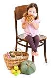 Muchacha con los ponytails fotografía de archivo libre de regalías