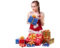 Muchacha con los presentes Imágenes de archivo libres de regalías