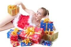 Muchacha con los presentes Imagen de archivo libre de regalías