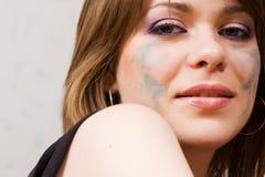 Muchacha con maquillaje Imágenes de archivo libres de regalías