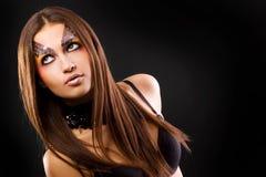 Muchacha con maquillaje Imagenes de archivo