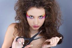 Muchacha con maquillaje creativo Imágenes de archivo libres de regalías