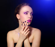 Muchacha con maquillaje hermoso Foto de archivo