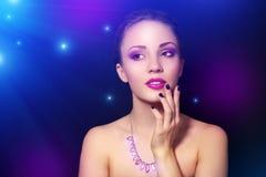 Muchacha con maquillaje hermoso Imagen de archivo libre de regalías